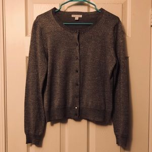 New York and Company Silver Cardigan